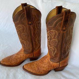Tony Lama Ostrich Cowboy Boots
